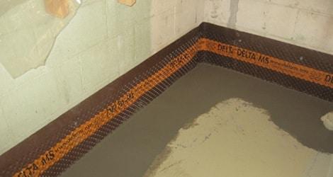 drainage de bord cave