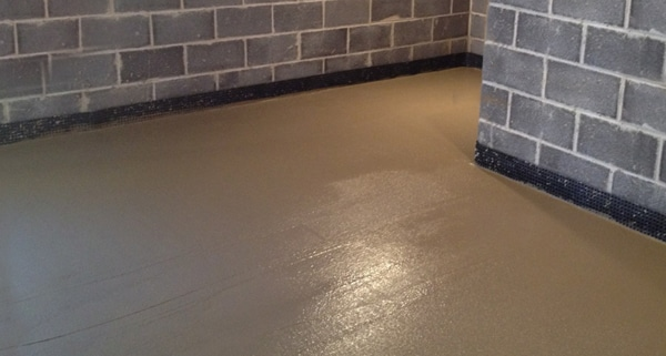 drainage de sol nouveau sol de cave